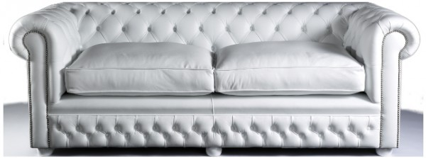 Chesterfield traditional low back soft cushions