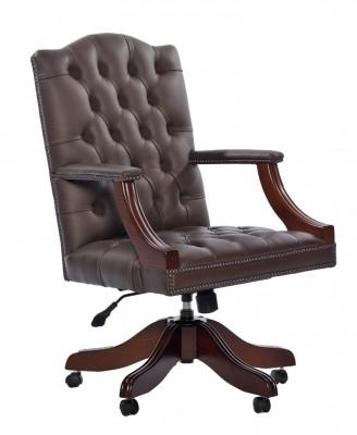 Gainsborough Swivel Plain Leather