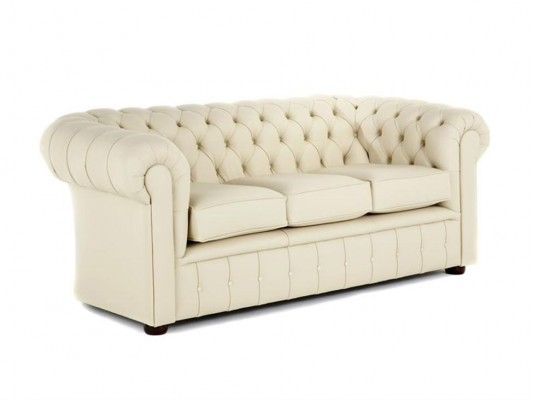 Chesterfield traditional single buttoned border 3 cush